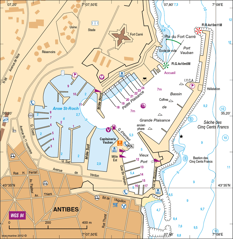 ANTIBES Port Vauban Yacht Agents Mediterranean Sea to Atlantic Ocean