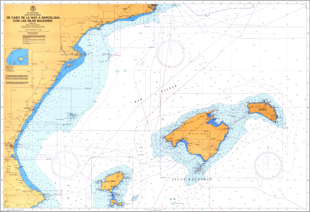 balearic-islands-nautical-chart